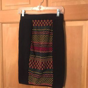 MISSONI colorful navy blue skirt